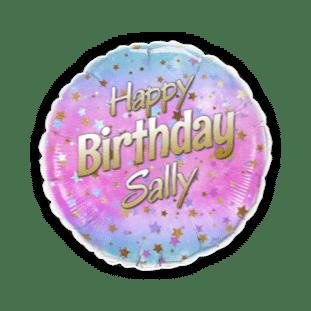 Birthday Ombre Stars Balloon
