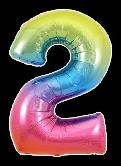 Rainbow 2 Balloon