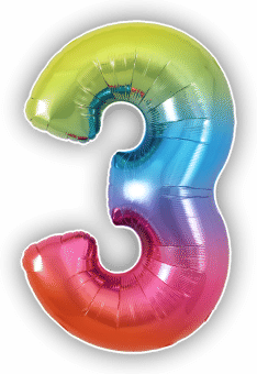 Rainbow 3 Balloon