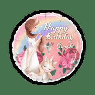 Princess and the Unicorn Balloon
