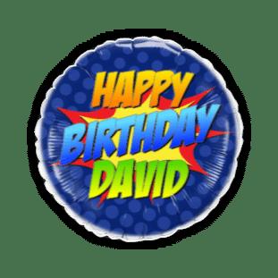 Super Hero Birthday Balloon