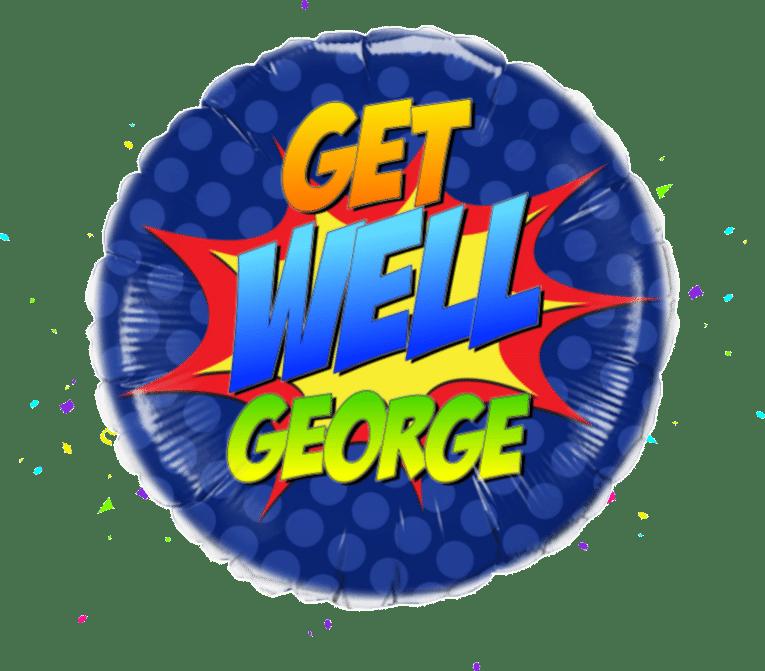 Get Well Super Hero balloon