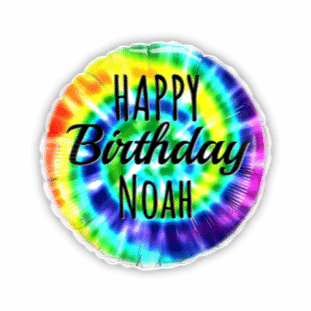 Birthday Colourful Swirls Balloon
