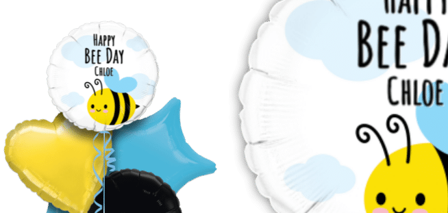 Happy Bee Day Balloon