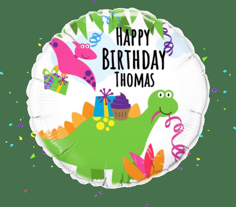 Dinosaur Party balloon