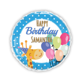 Birthday Giraffe Balloon