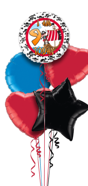 Pirate Any Age Birthday Balloon