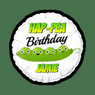 Hap-Pea Birthday Balloon
