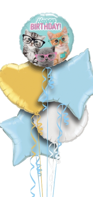Happy Birthday Kittens Balloon