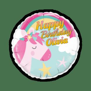 Birthday Unicorn Balloon