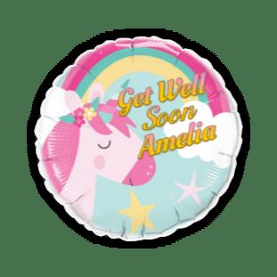 Get Well Soon Unicorn Balloon