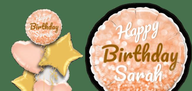 Birthday Gold Glitter Balloon
