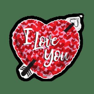 I Love You Heart and Arrow Balloon