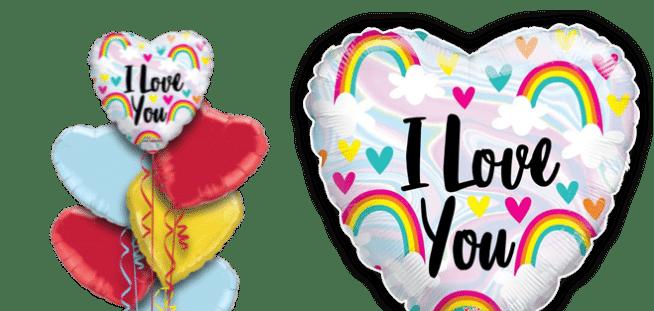I Love You Rainbows Balloon