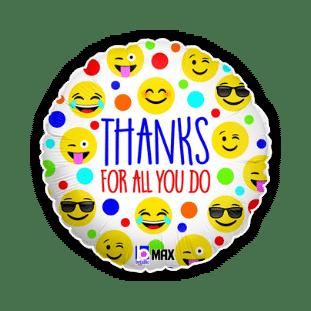 Thanks for All You Do Emojis Balloon