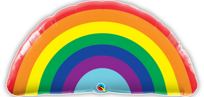 Bright Rainbow Balloon