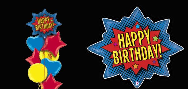 Superhero Birthday Burst Balloon
