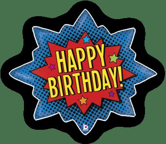 Superhero Birthday Burst
