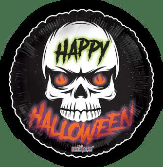 Fire Eyes Skull Happy Halloween