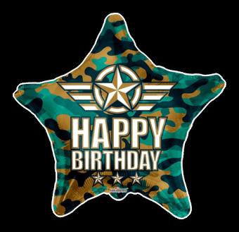 Birthday Camo Stars