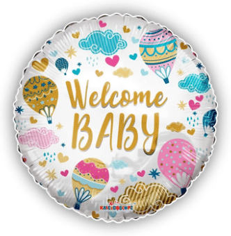 Welcome Baby Hot Air Balloons