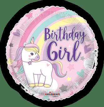 Birthday Girl Unicorn Rainbow