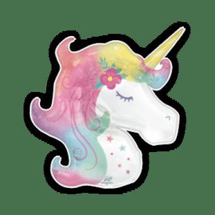 Pastel Rainbow Unicorn Balloon