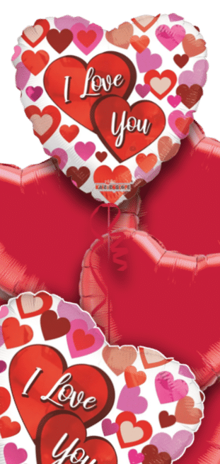 I Love You Multi Hearts Balloon