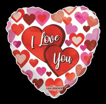I Love You Multi Hearts