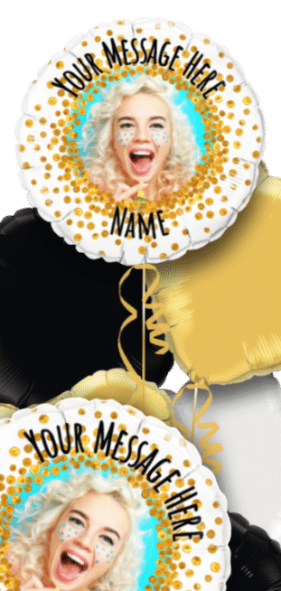 Gold Glitter Personalised Balloon
