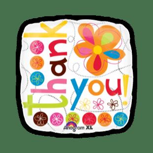 Thank You Colourful Balloon
