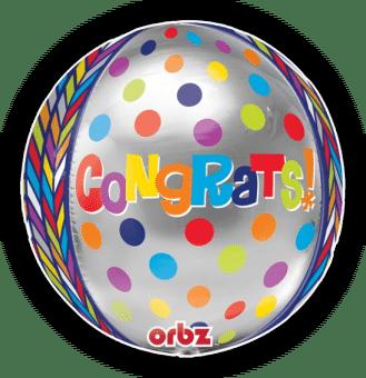 Congrats Spots Orbz Balloon