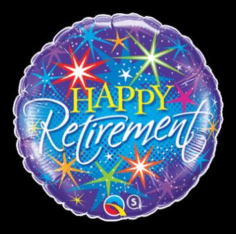 Happy Retirement Stars Balloon