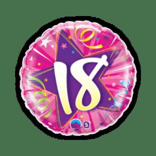 18th pink Star Balloon