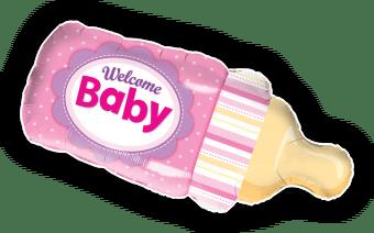 Welcome Baby Girl Bottle
