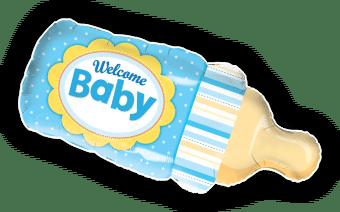 Welcome Baby Boy Bottle