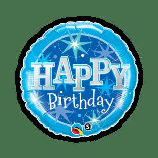 Blue Birthday Bright Balloon