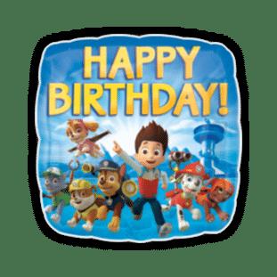 Happy Birthday Paw Patrol Team Balloon