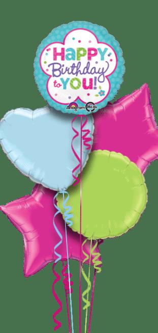 Birthday Flower Shape Balloon