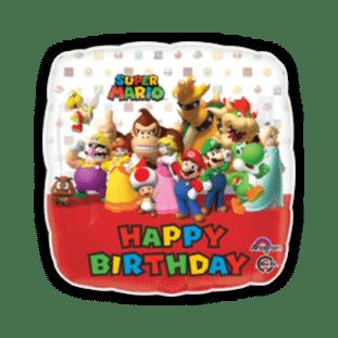 Happy Birthday Super Mario Crew Balloon