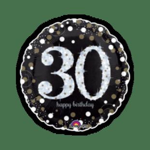 Glimmer Confetti 30th Birthday  Balloon