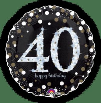 Glimmer Confetti 40th Birthday