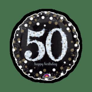 Glimmer Confetti 50th Birthday Balloon