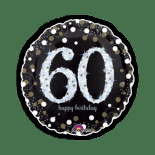 Glimmer Confetti 60th Birthday Balloon