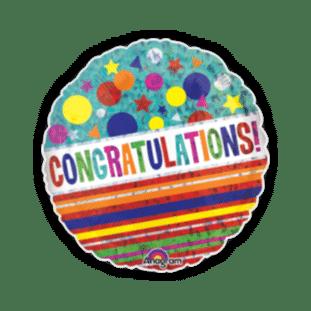 Congratulations Sparkle Balloon