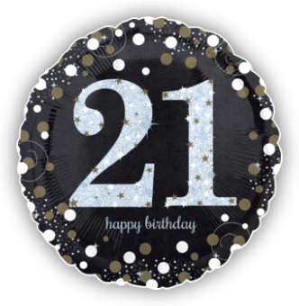Glimmer Confetti 21st Birthday