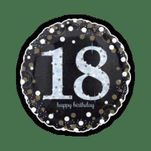 Glimmer Confetti 18th Birthday Balloon
