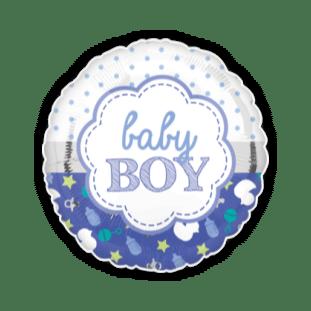 Baby Boy Dots And Dummies Balloon
