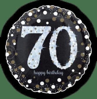 Glimmer Confetti 70th Birthday