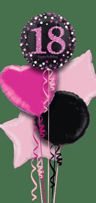 Pink Glimmer Confetti 18th Balloon